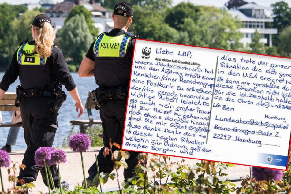 """Wirbel um Postkarte von """"Ben"""" an die Polizei Hamburg"""