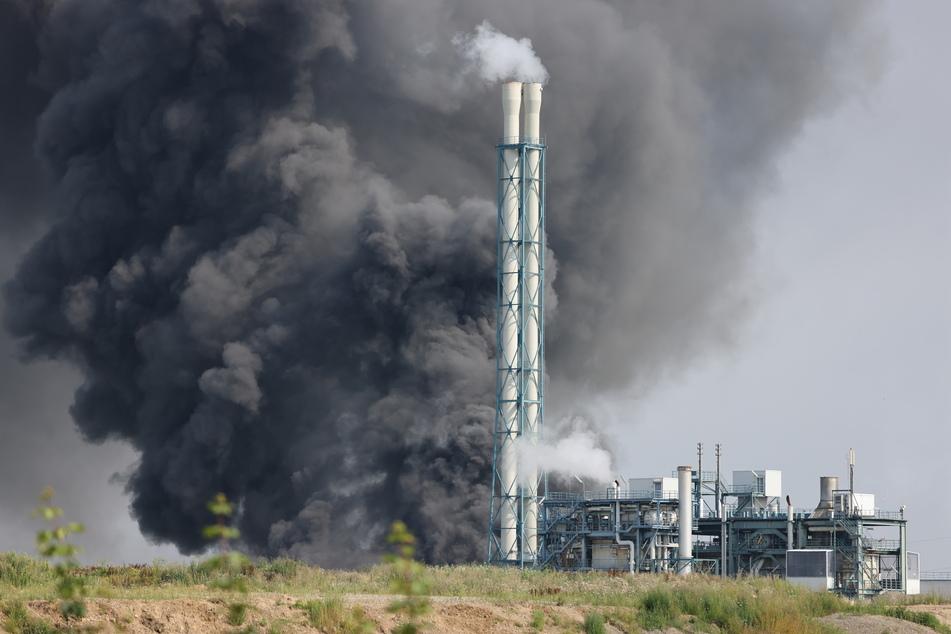 Diese Aufnahme zeigt die Explosion am Chempark Leverkusen am vergangenen Dienstag.