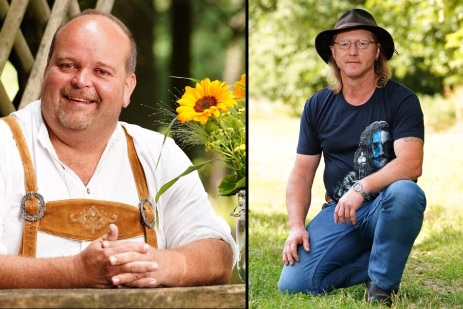 Angestellter Thomas K (42, l.) und Rinderwirt Lutz (52). (Fotomontage)