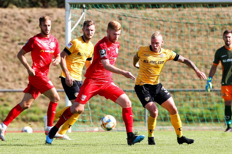 Mathias Fetsch (32, M.), hier noch im Trikot des Halleschen FC, ist mit elf Treffern in 19 Einsätzen der beste Torjäger von Kickers Offenbach.