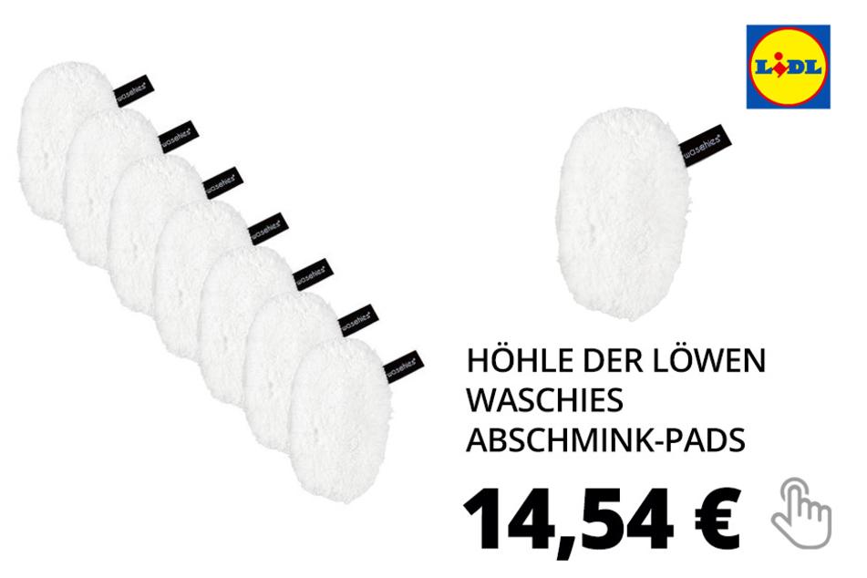 Nur online: Höhle der Löwen Waschies Abschmink-Pads, 7 Stück