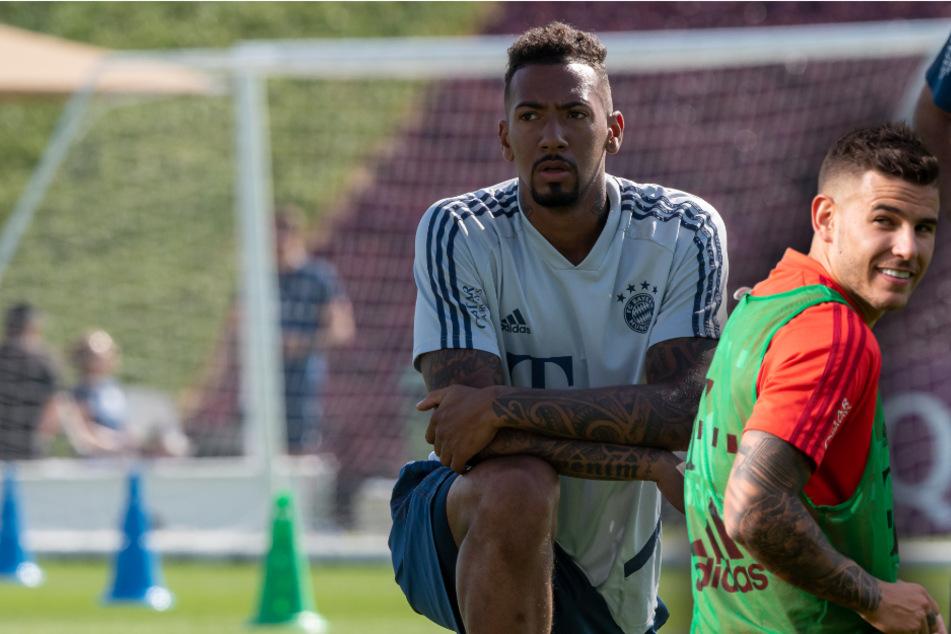 Rekordeinkauf Lucas Hernández (r, 24) liegt im Bayern-Team hinter Jérôme Boateng (31) zurück. (Bildmontage)