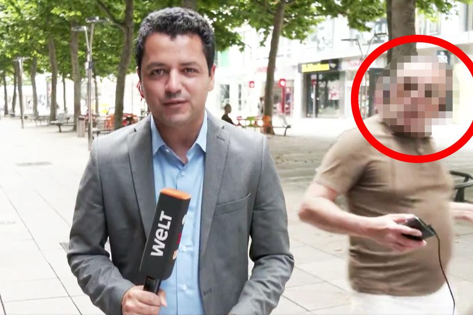 Kamerateam während Live-Schalte attackiert