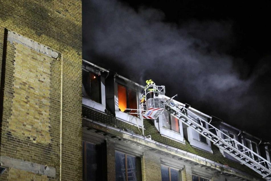 Der Brand im Dachgeschoss konnte relativ schnell gelöscht werden.
