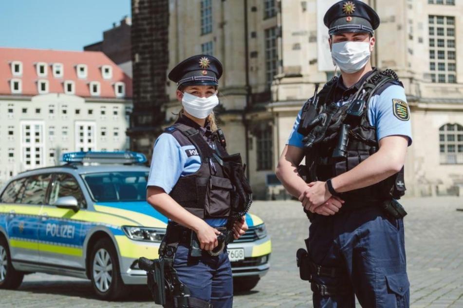 Auch Sachsens Polizisten sollen wo immer es möglich ist Schutzmasken tragen.