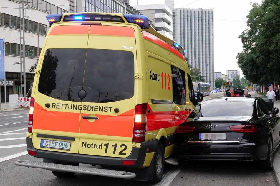 Krankenwagen-Crash in Chemnitzer City: Mehrere Verletzte