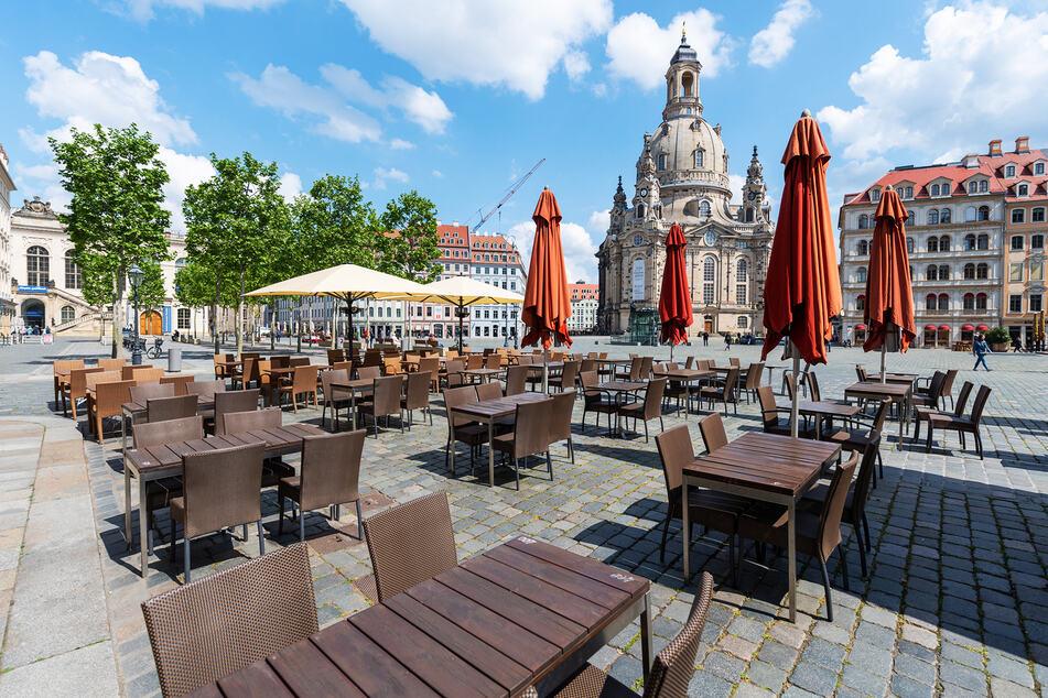 Wochenlang konnten keine Touristen nach Dresden kommen.