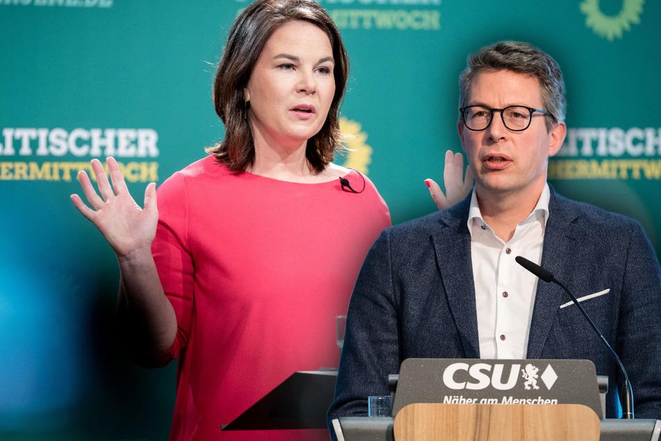 """""""Erschreckend"""": CSU kann Baerbocks Haltung zur Nato-Finanzierung nicht fassen"""