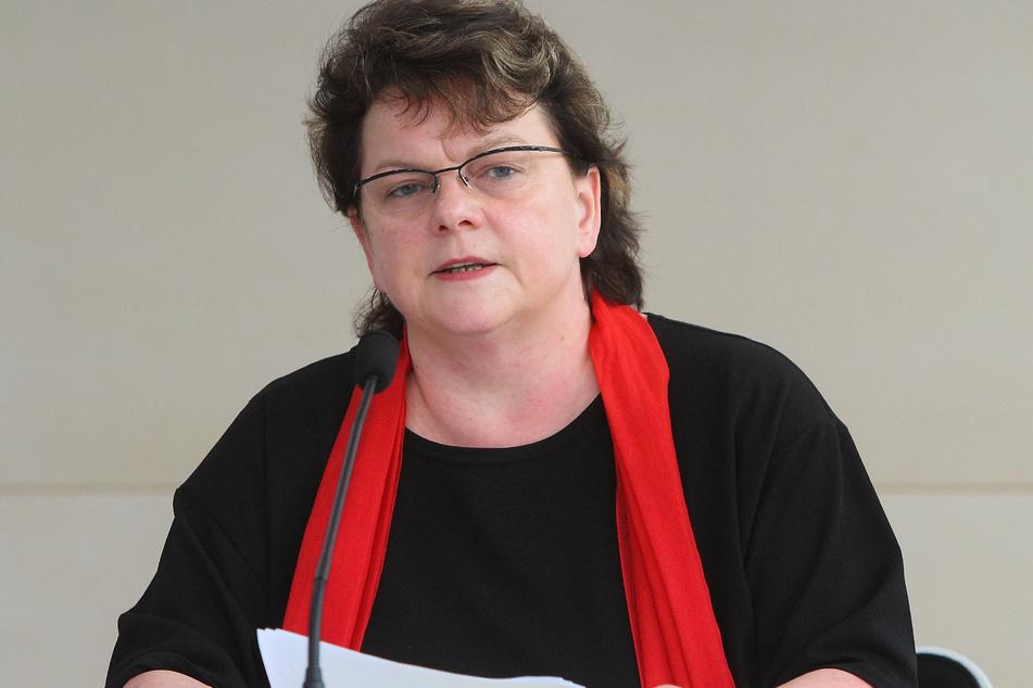 Die innenpolitische Sprecherin der Linksfraktion, Kerstin Köditz (54).