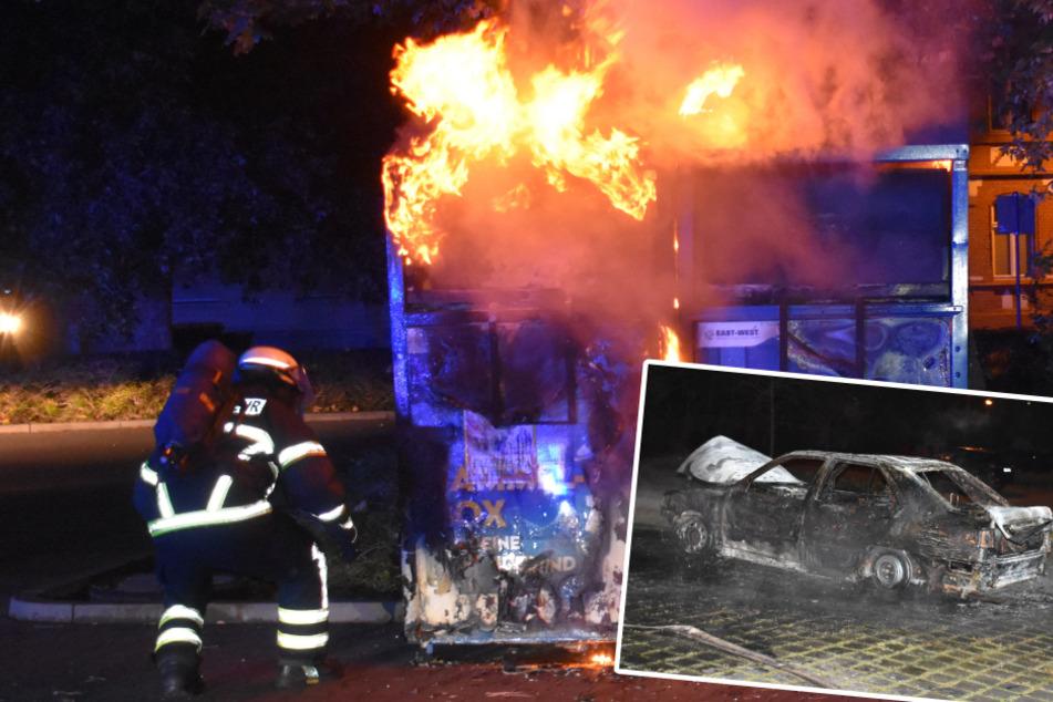 Container, Auto und Trafohaus in Flammen: Brandserie erschüttert Stendal