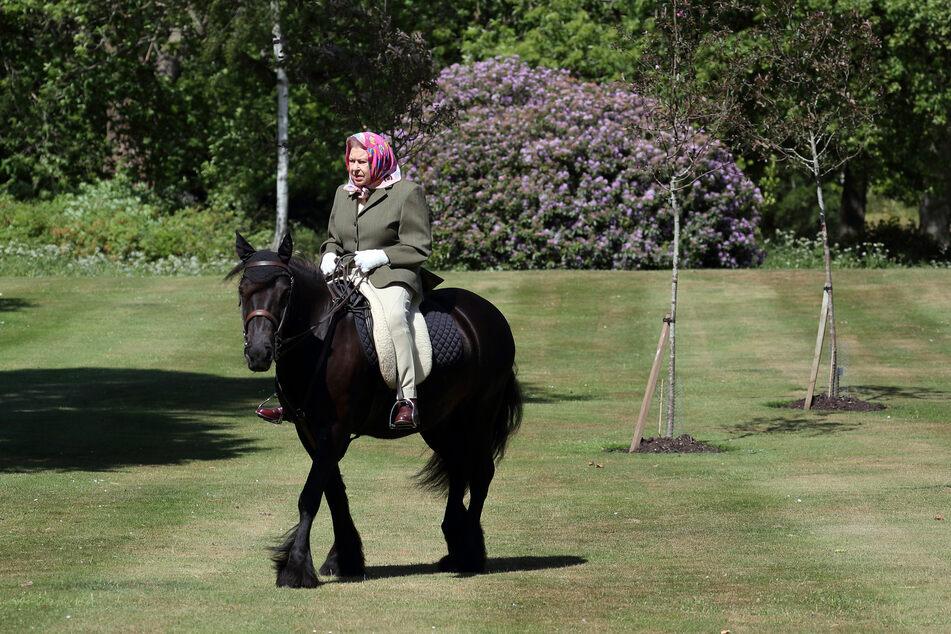 Königin Elizabeth II. reitet im Windsor Home Park auf dem 14-jährigen Fell-Pony Balmoral Fern. (Archivbild)