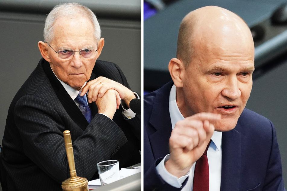 Bundestagspräsident Wolfgang Schäuble (78, CDU) und Unionsfraktionschef Ralph Brinkhaus (52).