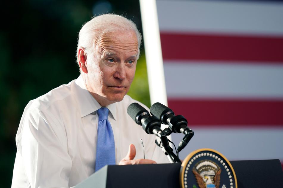 US-Präsident Joe Biden auf seiner Pressekonferenz.