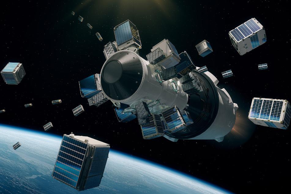In 500 Kilometern Höhe soll der Dresdner Satellit ausgeworfen werden.