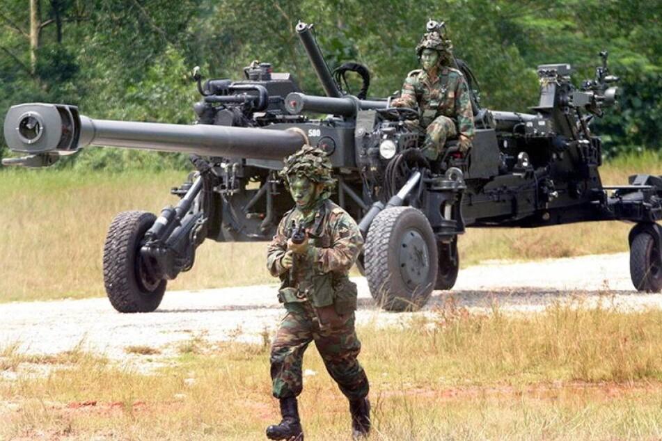 Was treibt die Armee aus Singapur in Sachsen?