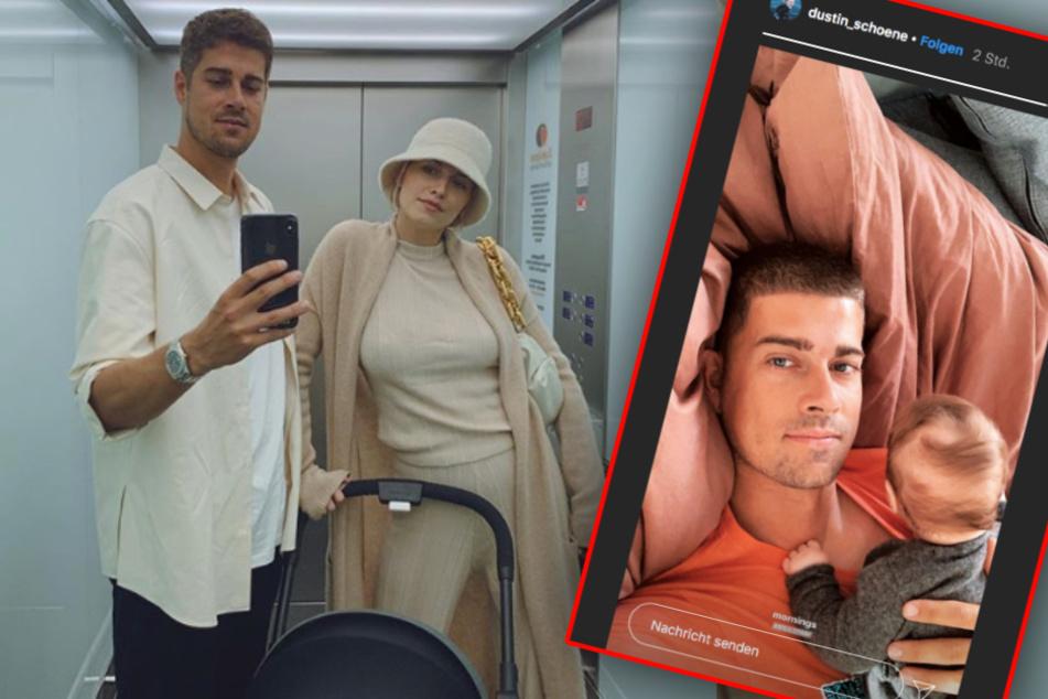 Lena Gerckes Baby: Papa Dustin zeigt sich ganz privat mit Zoe