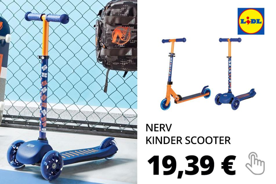 Nerf Kinder Scooter, mit 2 Rädern oder 3 Rädern, ab 3 Jahren