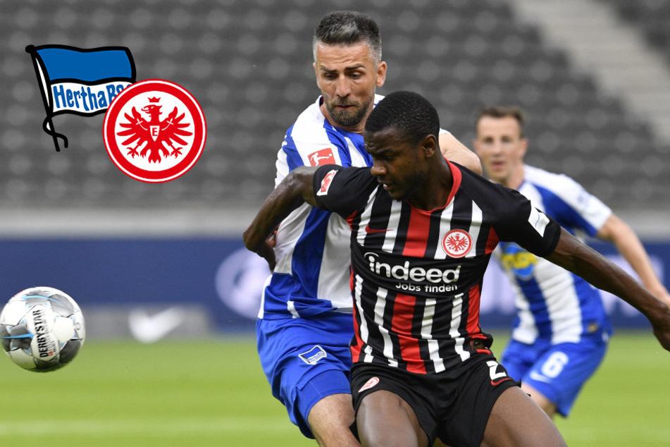 Heim-Klatsche für Hertha: Zehn Berliner unterliegen Frankfurt