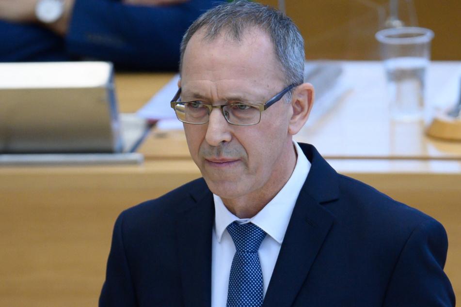 Übt scharfe Kritik am harten Lockdown: Sachsens AfD-Fraktionschef Jörg Urban (57).