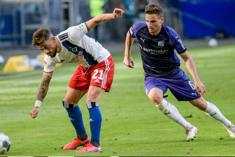 Wechselt Moritz Heyer (rechts) zum HSV? (Archivbild)