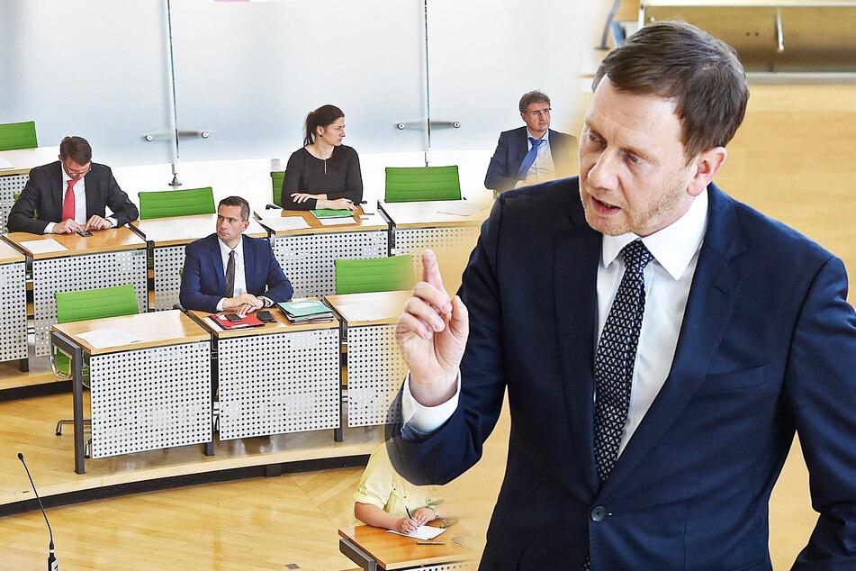 Überall gilt Abstandsgebot, aber die AfD lässt 200 Sachsen im Parlament antanzen