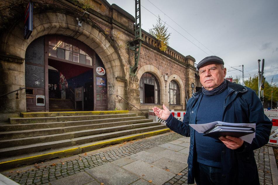 Der Viadukt-Verein legt sich erneut mit der Deutschen Bahn an. Thomas Hormes (70) wehrt sich gegen eine Verunstaltung des Südbahnhofs.