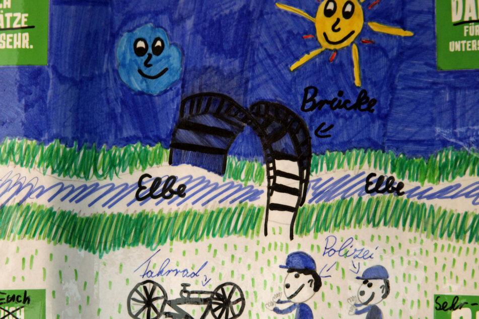 Dresden: Polizei findet gestohlenes Fahrrad von Frieda (9), die bedankt sich mit selbst gemaltem Bild