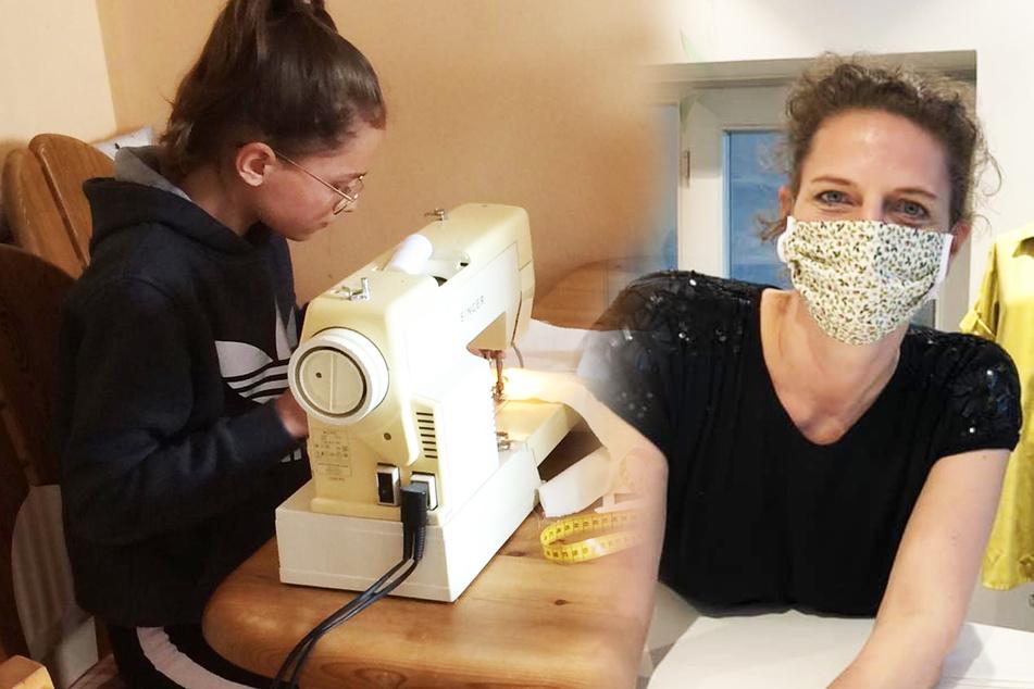 Diese Dresdnerinnen nähen gegen den Masken-Mangel!