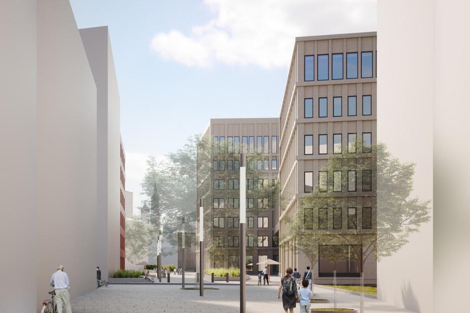 So stellen sich die Planer Dresdens neues Regierungsviertel vor.