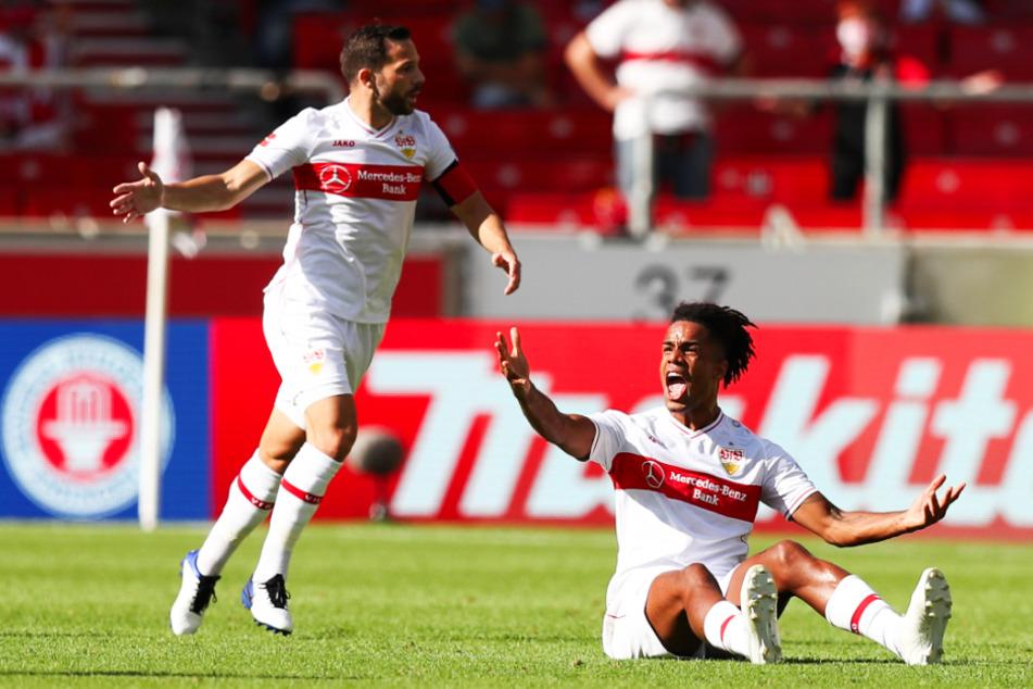 Daniel Didavi (31, r.) steht offenbar kurz vor einer Vertragsverlängerung beim VfB Stuttgart. Bei Kapitän Gonzalo Castro (33) herrscht hingegen noch Unklarheit.
