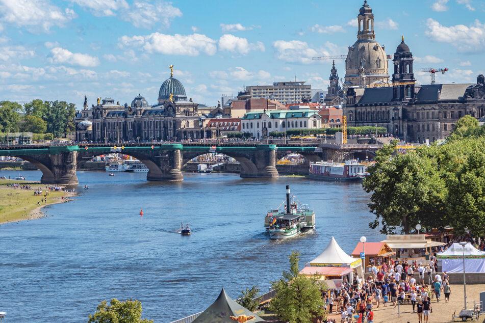 Das Dresdner Stadtfest lockt normalerweise jedes Jahr 500.000 Besucher in die Stadt.