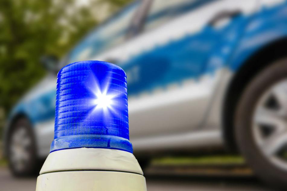 Blaulicht steht vor einem Polizeiauto (Symbolfoto).