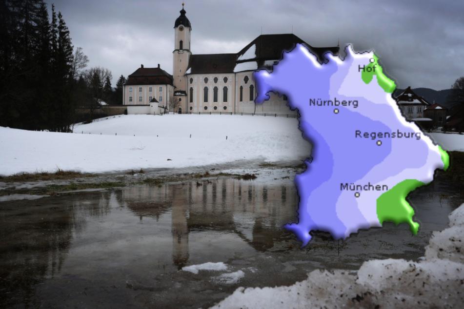 Glatt und regnerisch: So wird das Wetter in Bayern