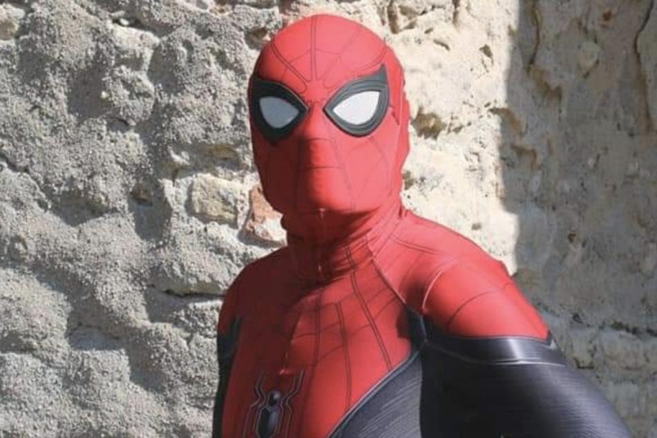 Claudio Cantali in seinem Spider-Man-Kostüm.