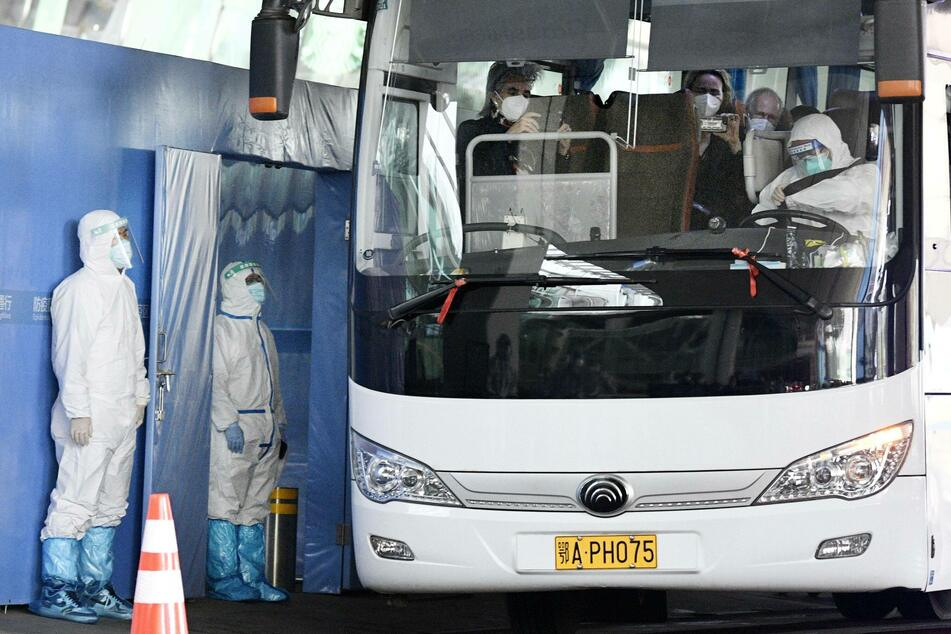 The WHO team arrived in Wuhan on Thursday to investigate the origins of the coronavirus.