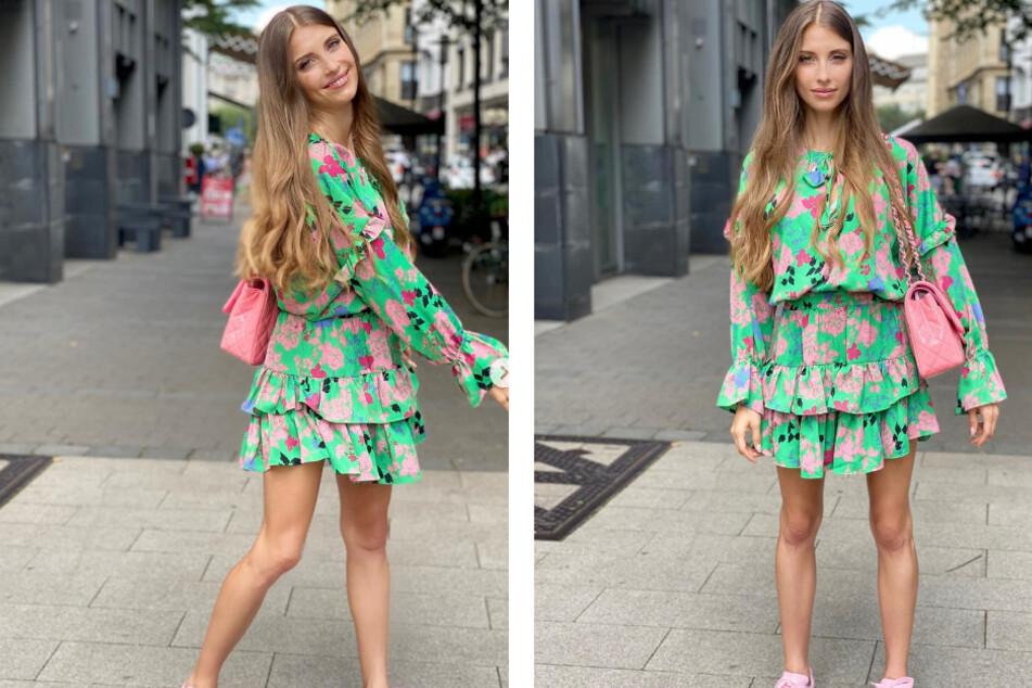 Dieses knallige Sommer-Outfit präsentierte Cathy Hummels (32) auf Instagram.