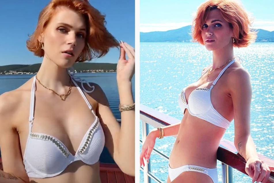 Model zeigt neue Brüste im Bikini: Sie ist auf spezieller Mission