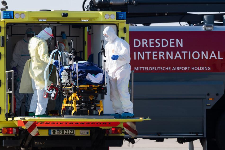 Das Flugzeug vom Typ Learjet 45 kam aus Metz und landete am Nachmittag auf dem Flughafen in Dresden.