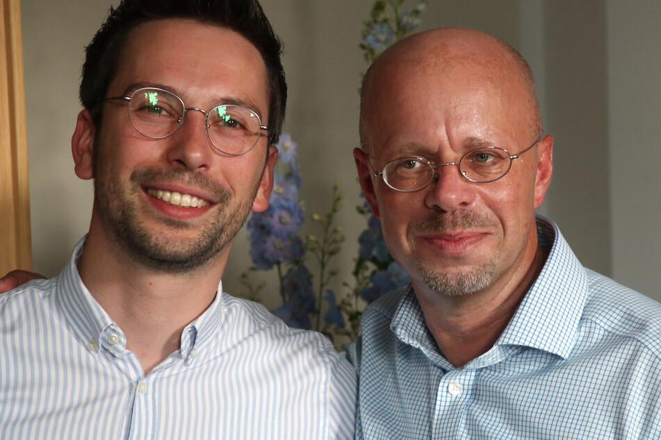 Andreas Kalbitz mit seinem Vertreter Dennis Hohloch.