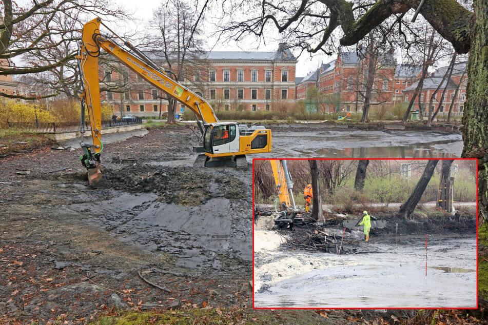 Kampfmitteldienst rückt in Zwickau an! Weltkriegs-Munition in Teich-Baustelle vermutet