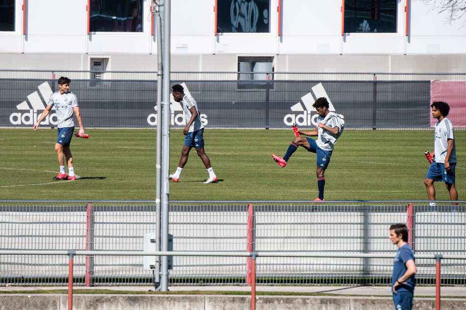 Eine Einheit des FC Bayern im April.