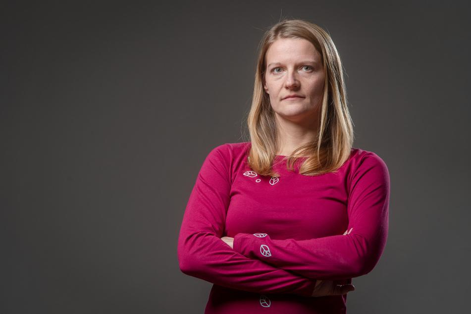 Grünen-Stadträtin Christin Furtenbacher (37) ärgert sich über die Stadtrat-Entscheidung. Sie möchte mehr weibliche Straßennamen in Chemnitz.