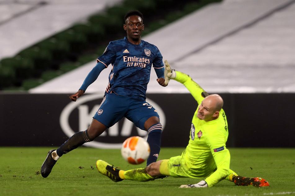 Folarin Balogun (19, l.) gilt in England als riesiges Talent. Nun scheint der Stürmer in Leipzig sein Glück versuchen zu wollen.