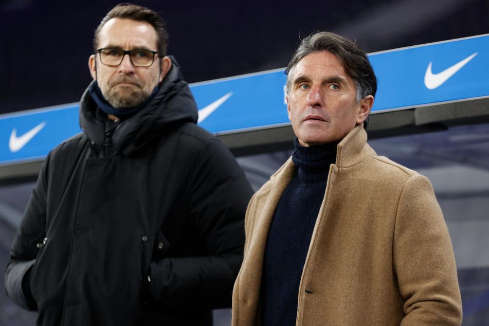 Michael Preetz (l.) und Bruno Labbadia mussten nach der sportlichen Talfahrt bei Hertha BSC ihre Koffer packen.