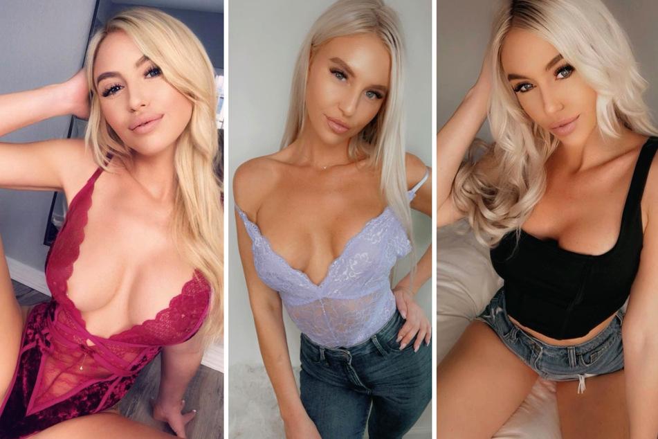 Auf Instagram lässt die hübsche Blondine gern die Hüllen fallen.