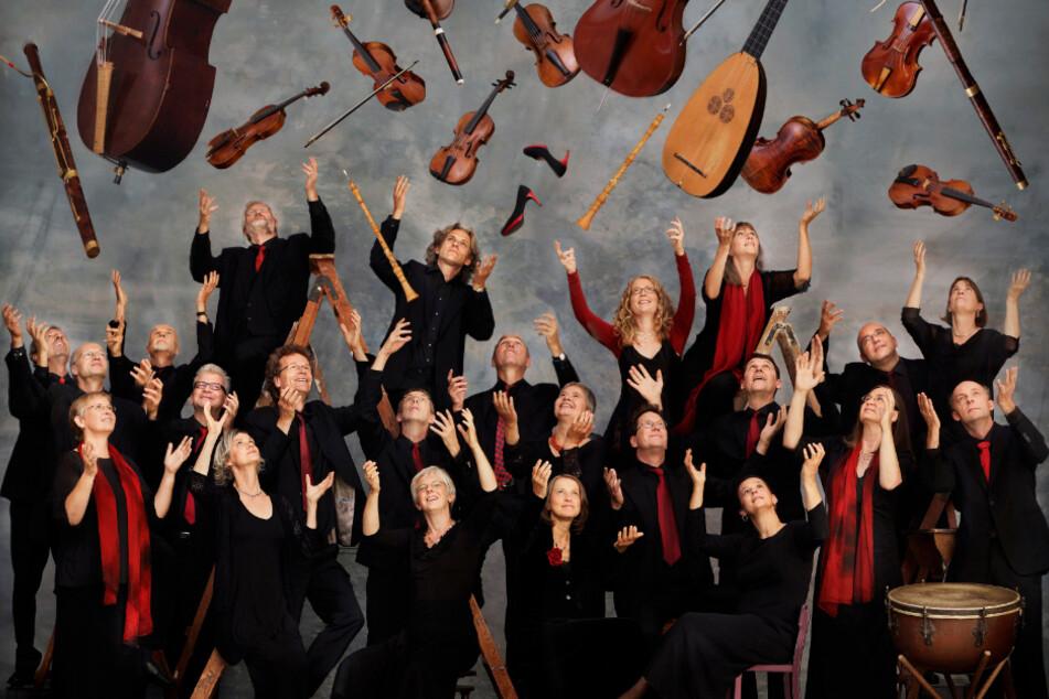 Das Foto zeigt Musiker der Akademie für Alte Musik.