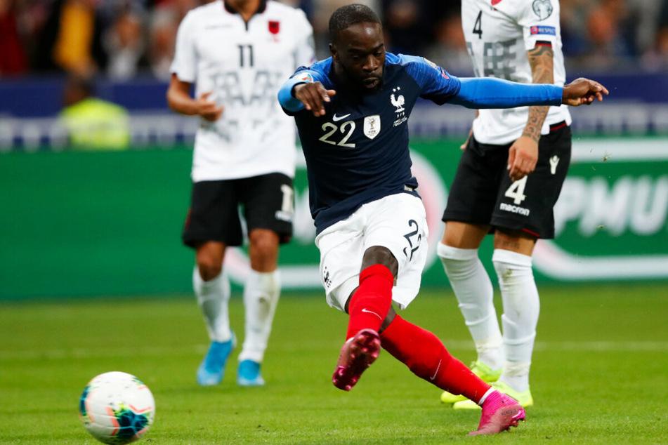 Jonathan Ikone (23, v.) erzielte am 7. September 2019 bei seinem Länderspieldebüt direkt sein erstes Tor für Frankreich und traf zum zwischenzeitlichen 4:0 gegen Albanien.