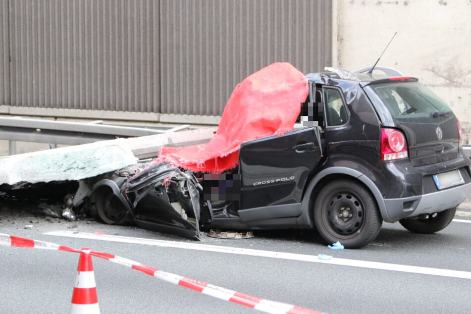 Tödlicher Unfall auf A3: Riesiges Betonteil erschlägt Kölnerin in ihrem Auto