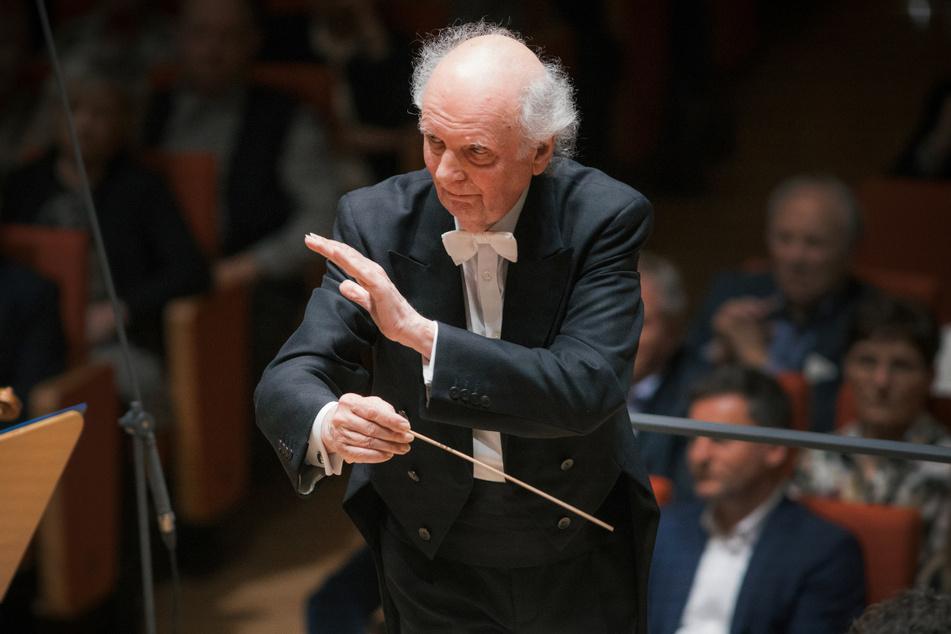 Marek Janowski (82), Chefdirigent der Dresdner Philharmonie.