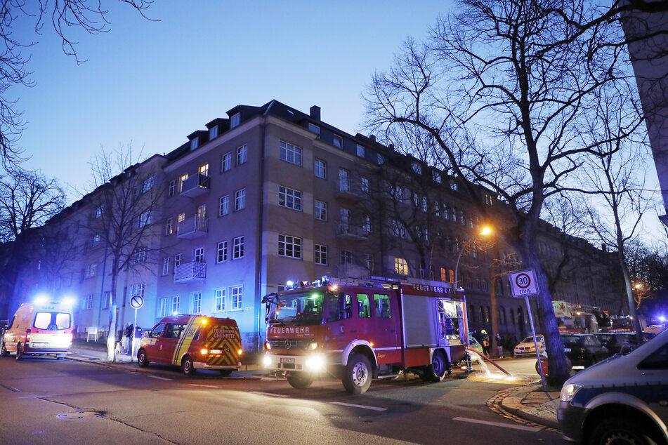 Feuerwehreinsatz in der Klarastraße in Chemnitz.